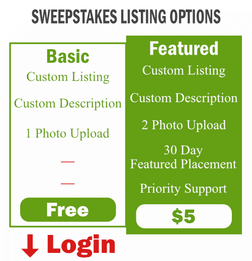 Sweepstakes Pricing - Submit A Sweepstakes