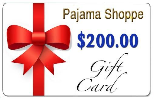 $200 Pajama Shoppe Gift Card Giveaway