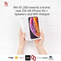 Win an iPhone XS + Speakers And WiFi Hotspot
