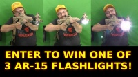 Tactical AR-15 Flashlights 900LM Giveaway