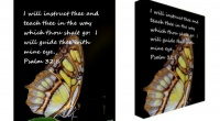 Linda L Culbreth--Butterfly Art with Psalms 32:8 Giveaway