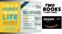 Your Money or Your Life and The Millionaire Nextdoor + $25 Amazon Gift Card