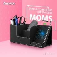 Win the EasyAcc Qi-Certified Wireless Charging Stand With Multi-Device Organizer