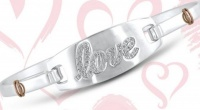 Win the Silver LOVE Bracelet for Valentine's Day