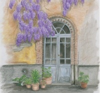 Abby's Wisteria Door Artwork Giveaway