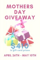 Win $410 in gift cards for Mother's Day
