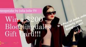 $200 Bloomingdales Gift Card + Julia Jolie Beverly Hills Sunglasses