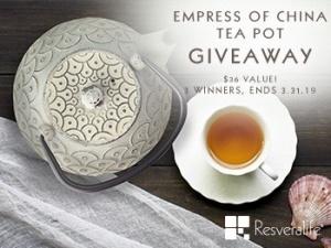 Empress Of China Teapot Giveaway