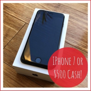 Win an Apple iPhone 7 or $500 Cash