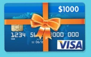 $1,000 Visa Gift Card Giveaway