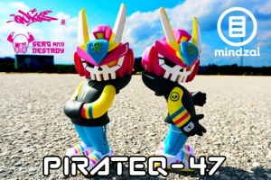 Win a Limited Pirateq-47 Art Toy Figure By Quiccs X SergAndDestroy