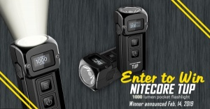 NITECORE TUP Flashlight Giveaway