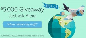 Alexa Voice Shopping $5,000 Post Prime Day Giveaway