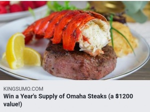 Win A Year of Omaha Steaks