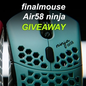 Finalmouse Air 58 Ninja Blue Gaming Mouse Giveaway
