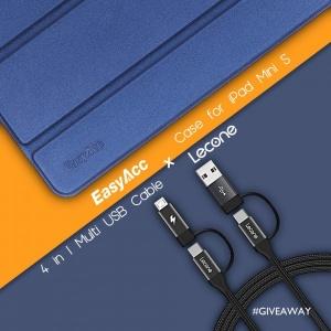 Win EasyAcc Case for iPad Mini 5 & Lecone 4-in-1 Cable