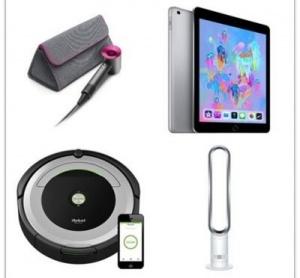 WIN iPad OR Dyson Fan OR Dyson Hairdryer OR iRobot!