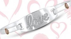 Win the Silver LOVE Bracelet for Valentine's Day