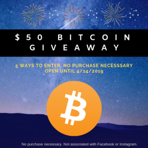 $50 Bitcoin Giveaway