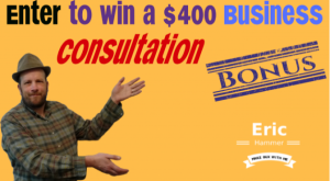 Win a $400 Business Consultation with an Expert In Internet Marketing